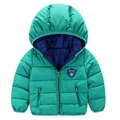 Nuevo bebé niños prendas de abrigo capa del muchacho de moda niñas chaqueta de abrigo con capucha caliente niños clothing ropa de los cabritos 7-24 m