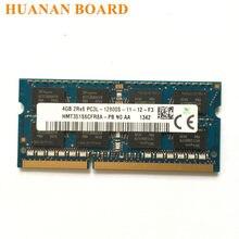 Sk hynix chipset 4gb 1rx8 2rx8, pc3/pc3l 12800s ddr3 1600mhz 4gb laptop, notebook de memória módulo sodimm ram