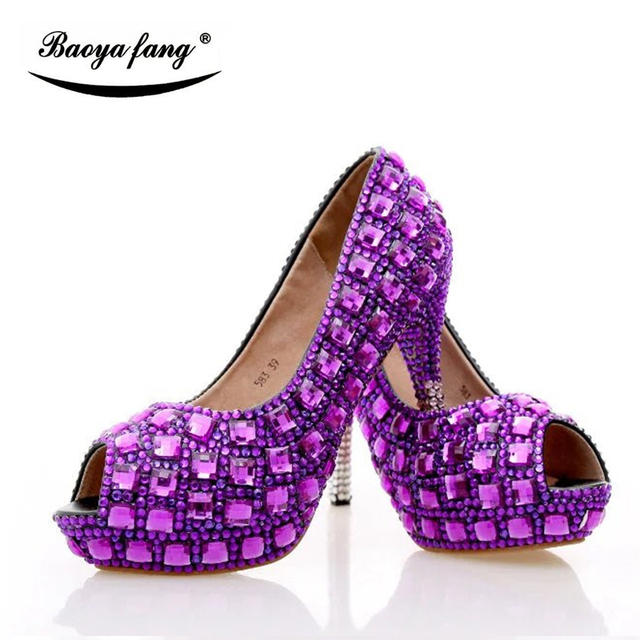 Purple Wedding Shoes With Matching Purse | High Heel Wedding Shoes
