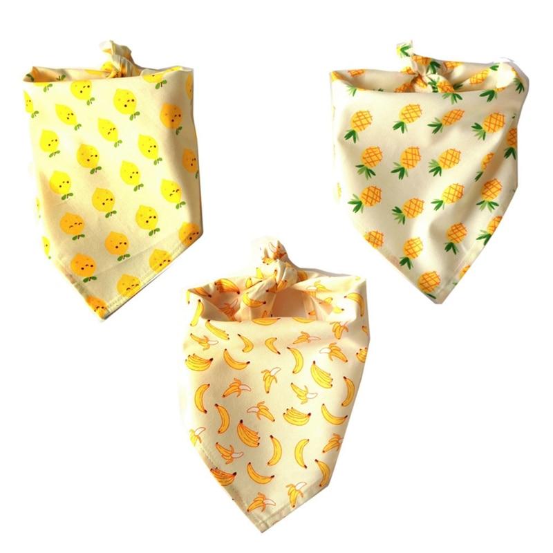 font b Pet b font Dog Cat Fruit Pattern Neck Scarf Adjustable Cotton Necktie Bandana
