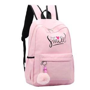 Image 2 - Preppy Style Fashion Women School Bag Brand Travel Backpack For Girls Teenagers Stylish Laptop Bag Rucksack girl schoolbag