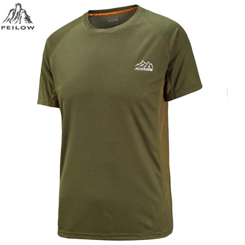 0e1f36bea ... Peilow новые модные большие размеры M ~ 6XL 7XL футболка Для мужчин  короткий рукав быстросохнущая Для ...