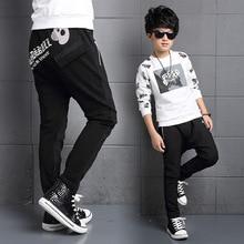 Дети мальчик шаровары 5-15 год новый хип-хоп детские брюки мешковатые брюки для мальчиков осенние брюки мальчиков хлопка брюки a2628