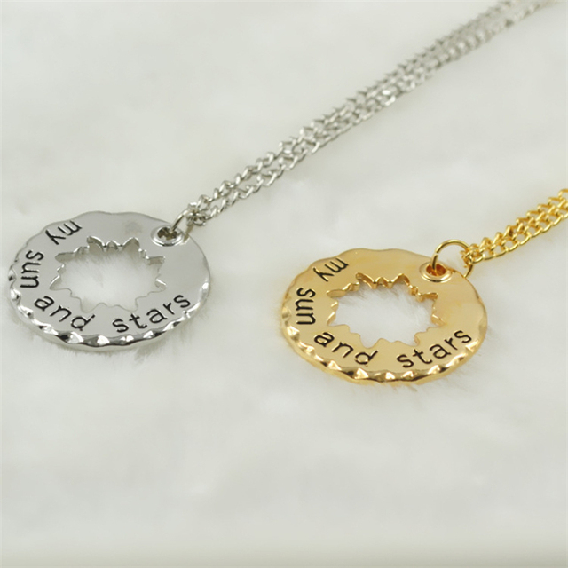 Moon of my Life & Sun and Stars Lovers Necklace
