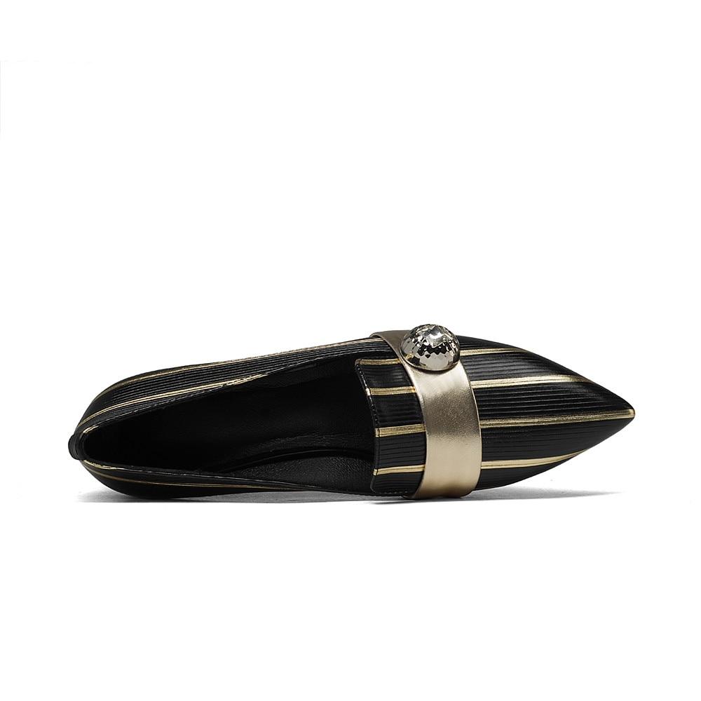 Negro Tacón Bajo Con Genuino Punta Estrecha Zapatos Para Colores Mujer De Cuero Cuadrado Mezclados xOw55qB1E
