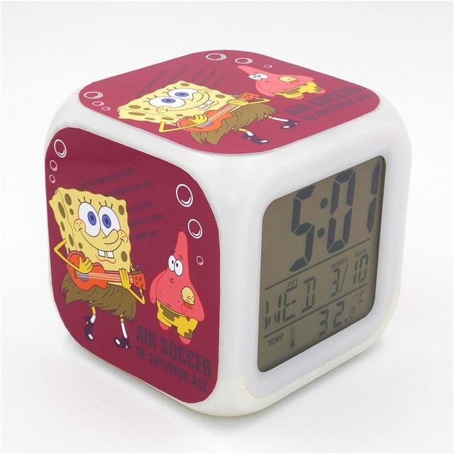 8d2eef45138 New Bob Esponja Patrick Estrela de Mesa Levou Despertador Criativo  Multi-funcional Relógio De Mesa