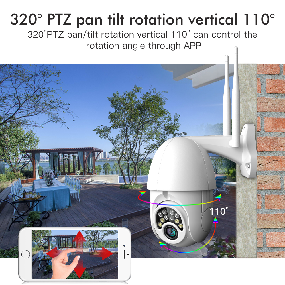 Image 5 - SDETER 1080P PTZ Security WIFI Camera Outdoor Speed Dome Wireless IP Camera CCTV Pan Tilt 4X Zoom IR Network Surveillance 720P-in Surveillance Cameras from Security & Protection