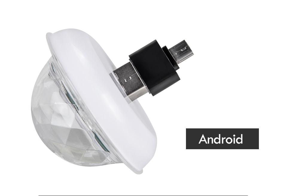 Mini USB led Party Lights Portable Crystal Magic Ball (21)