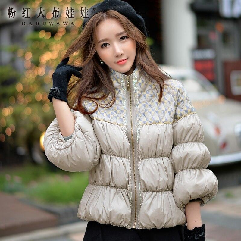 D'origine 2017 manteau d'hiver duvet de canard blanc vintage spliced épais vers le bas veste femmes