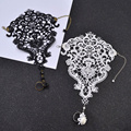 Fashion Gothic Tattoo Tassel Lace Bracelet Retro Vintage Charm Bracelet Women Wedding Jewelry