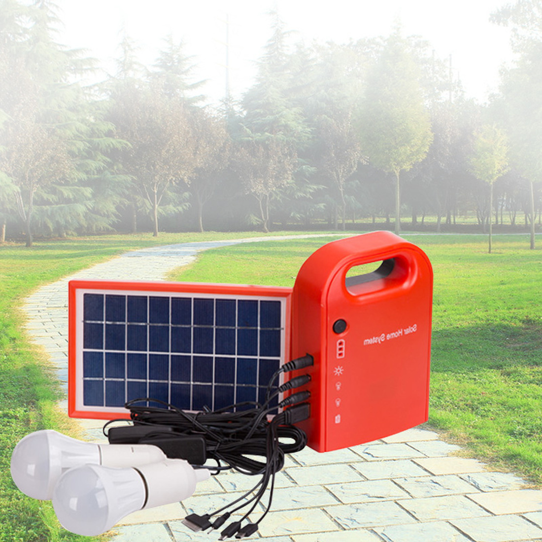 цена на Free Shipping 4 W DIY Home Solar Power Bank Solar Panel Power Generation System for Lighting Battery Mobile Phone Charger