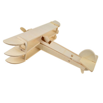 BOHS Spowith Triplane Fighter Aircraft 3D Puzzles Scale Miniature Wooden Model DIY Educational Toys 1