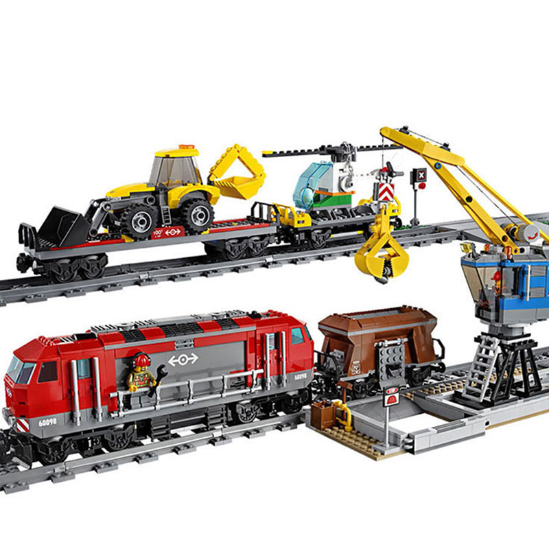 City Engineering Remote Control RC Train Model Building Toy Blocks Bricks Educational Toys For Kids Gifts Compatible Legoings