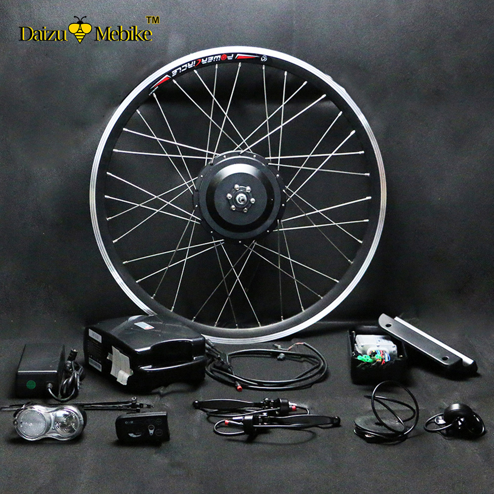 Electric Bicycle Motor Kit With Battery In India: 36V Li Ion Battery Electric Bike Kit Motor Wheel For