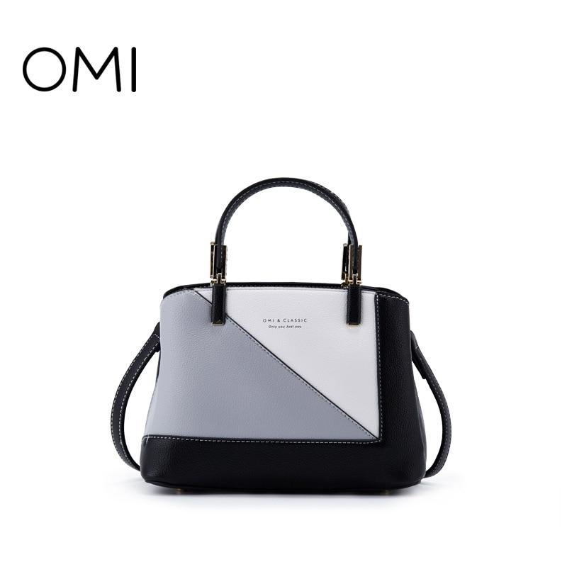 OMI bag female 2018 new geometric graphics handbag diagonal package Omega fashion handbags bucket bag