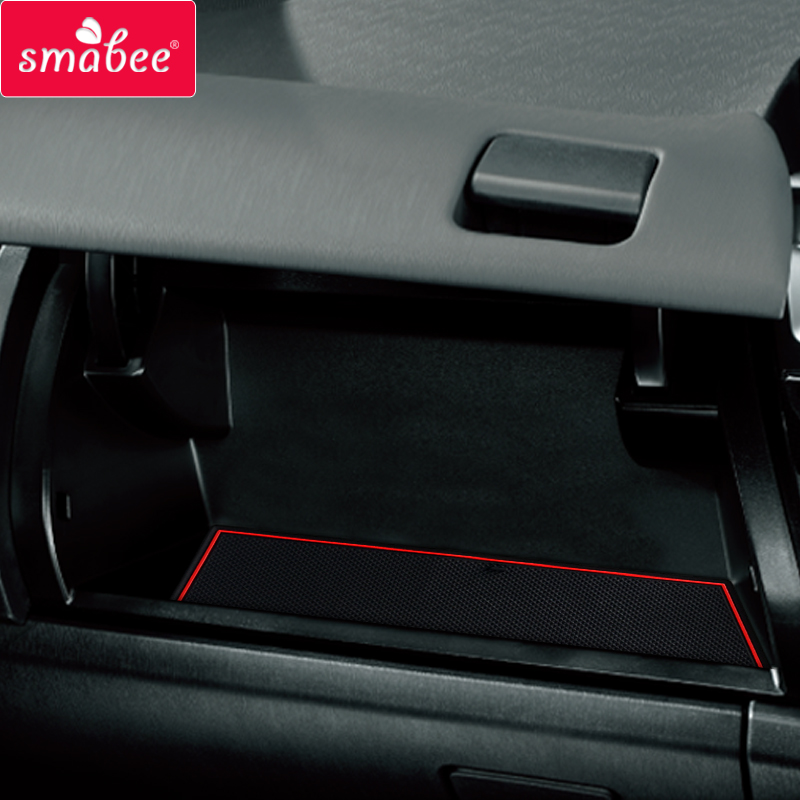 Smabee Anti-Slip Gate Slot Cup Mat For TOYOTA PRIUS A/V/+ ZVW41W 2011-2018 Non-slip Pad Interior Accessories Rubber Car Sticker