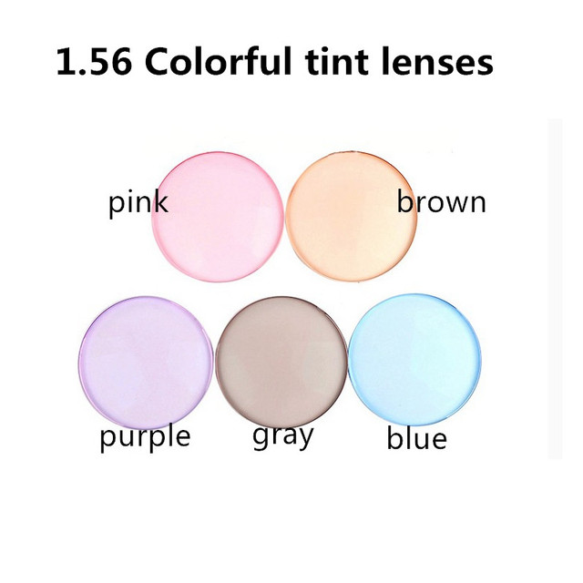 e30bd5375e819 1.56 Index optical Colorful Resin Lenses Single Vision With Tinting  Prescription Sunglasses lens NO Polarized