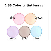 1.56 Index optical Colorful Resin Lenses Single Vision With Tinting Prescription Sunglasses lens NO Polarized