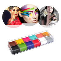 IMAGIC Waterproof Flash Tattoo Face Body Paint Oil Painting Art Colors Halloween Party Festival Fancy Dress