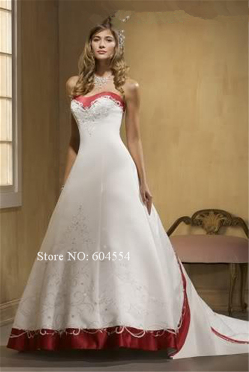 Crimson Wedding Gown