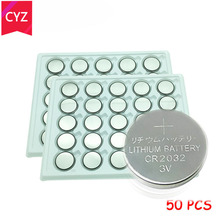 50pcs 3V CR2032 cr2032 Lithium li-ion Button Cell Battery BR2032 DL2032 ECR2032 KCR2032 Coin Batteria Watch batterij