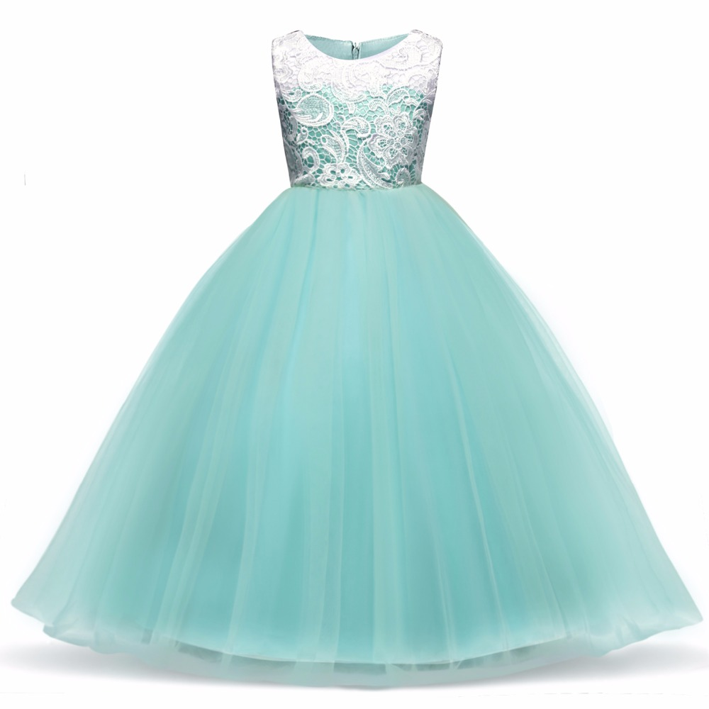 Children Princess Girl Christmas Party Dress Flower Tulle Wedding Gown Formal Wear Teen Kids Dresses For Girls Ceremony Vestidos 3
