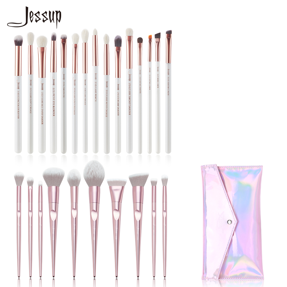 Jessup Makeup brushes set Cosmetic tools beauty Make up brush & 1PC Cosmetic bag women CB003 Eye brushes Powder Foundation makeup cosmetic soft foundation powder brush beauty marble make up tools brushes set 10pcs