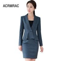 Women suits Slim spring Flounced jacket skirt 2 piece set OL Formal Business Women skirt suits Woman set suits 296