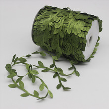 10 Meter Silk Leaf-Shaped Handmake Artificial Green Leaves for Wedding Decoration DIY Wreath Gift Scrapbooking Craft Fake Flower