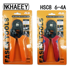 6-4A 0.25-6mm 23-10AWG Square Tube Bootlace Terminal Crimping Pliers Crimp Hand Tools HSC8 hsc8 6 6 bootlace ferrules crimping pliers tools 23 10 awg for pin terminal