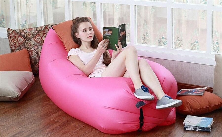 Creative Lazy Inflatable Beanbag Sofa Chair Living Room Bean Bag Cushion Camping Hangout Beach Garden