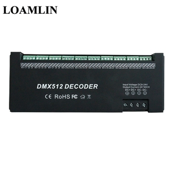 DMX512 Decoder Led Strip DMX Controller 30 Channel*2A Input DC12-24V