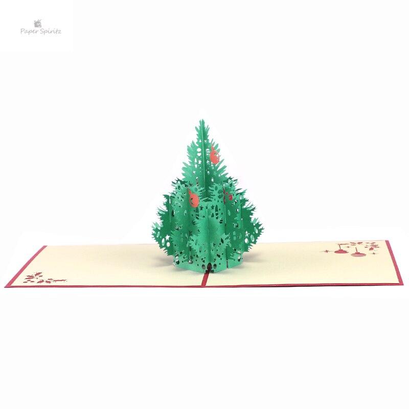 UCAPAN NATAL KARTUUNDANGAN PESTA HADIAH DENGAN PUTIH SAAT. Merah 3D Selamat  Pohon . 6c7319a5d0