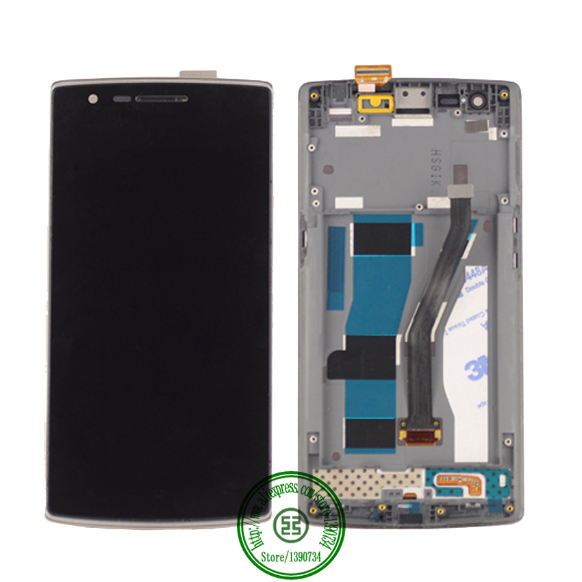 ФОТО High Quality LCD Display + Digitizer Touch Screen Assembly with frame For Oneplus one 5.5