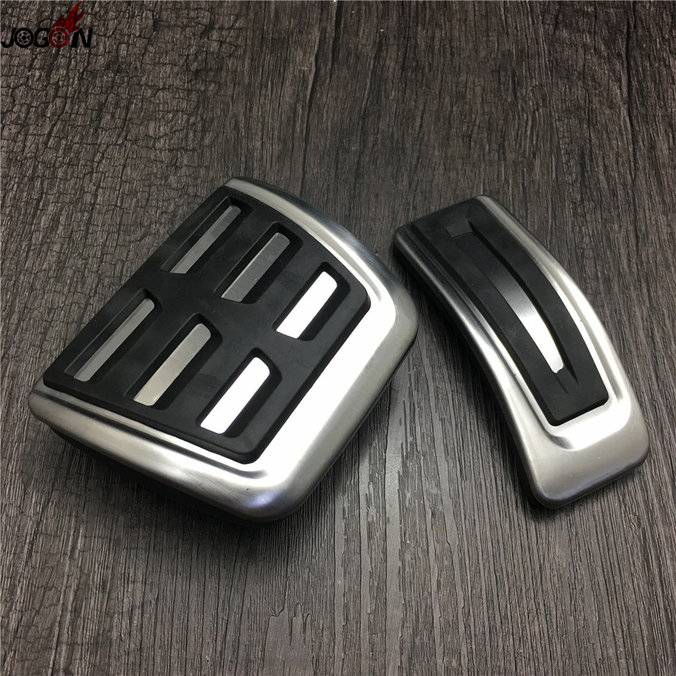 2pcs/set Gas Fuel Brake Foot Pedal Cover Cap Automatic For Audi A4 S4 B9 8W 2016 2017 Right Hand Drive