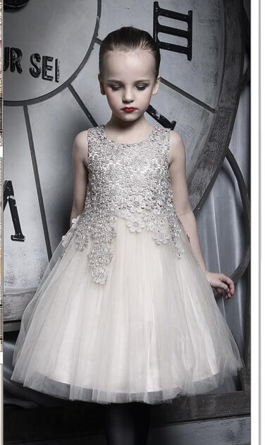2018 High-grade Children Party Gown Lace Embroidery   Flower     Girl     Dresses   for Wedding Princess Long Sleeved Prom   Dress