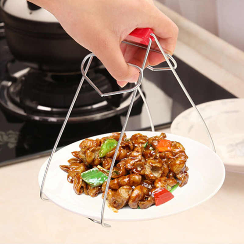 Anti-hot Clamp Foldable Steaming Gripper Durable Stainless Steel Bowl Dish Tools