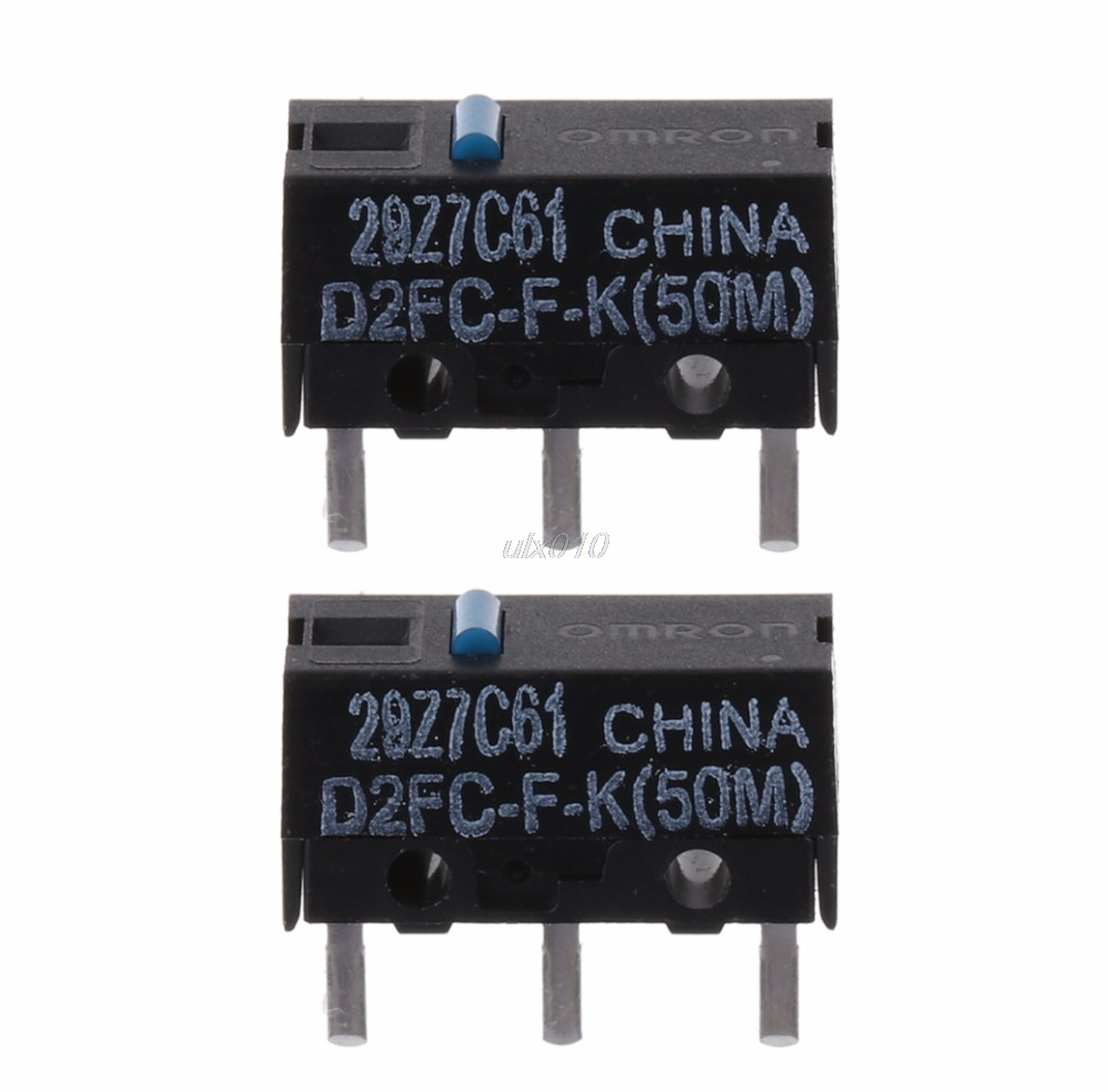 2Pcs OMRON D2FC-F-K (50m) Blue Dot Mouse Micro Switch Mar DropShip цена 2017