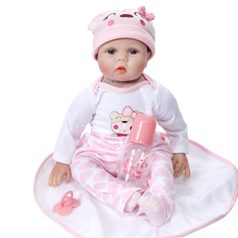 Фотография Cute Lifelike Realistic Reborn baby Doll Soft Silicone baby Dolls Toy for Boys Girls Birthday Christmas Gift Accompanying Toy