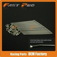 19 Rear Wheel Stainless Steel Spokes Nipples CR125 CR250 CR500 CRF250R CRF450R CRF250X CRF450X CR CRF Dirt Bike Motocross
