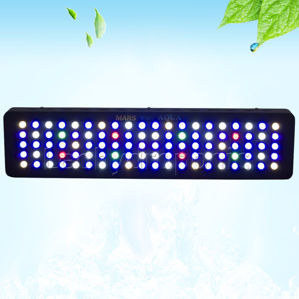 MarsAqua Led Grow Light Aquarium Switchble 300W Marine Aquarium Led Lighting Full Spectrum Led Coral Reef