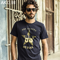 CLUBE AK Marca T-shirt Cuba Libre Série Pentagrama Estrela Impresso Camiseta Manga Curta Camiseta De Algodão T-shirt Dos Homens Casual 1600007