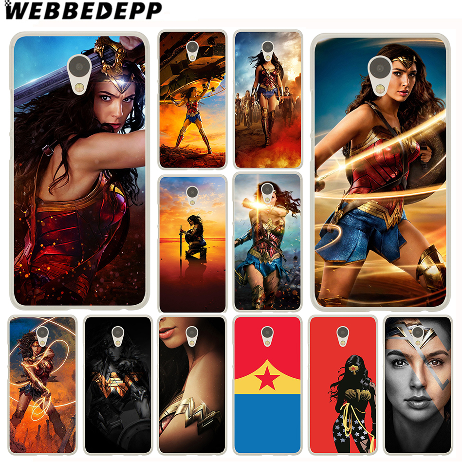 Webbedepp Wonder Woman чехол для Meizu M6 M5 M5C M3 M2 Примечание M3s мини M5S U10 U20 Pro 6 7 плюс