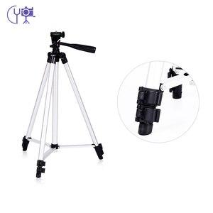 Image 4 - CY 1 sztuk 130 cm profesjonalny statyw kamery stojak światła statyw z wahacz dla Canon Nikon Sony DSLR Camera z klips do telefonu
