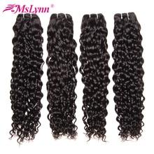 Mslynn Hair Water Wave Bundles Human Hair Extensions Natural Color Brazilian Hair Weave Bundles Non Remy