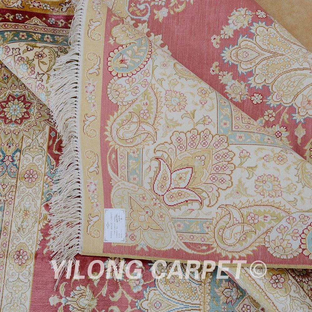 Prodaje se Yilong 5.5'x8 'ručni čipkasti tepih crvena ručno - Tekstil za kućanstvo - Foto 6
