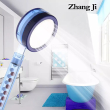 ZhangJi High Pressure SPA shower head filter Balls Vitamin C Replacement Detachable blue water saving Healthy Showerheads