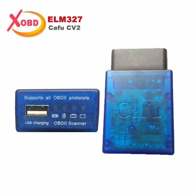 Nueva 2 en 1 Cafú CV2 OBD ELM327 Bluetooth V1.5 USB Leer Los Códigos de Problemas de Diagnóstico Del Coche Del Lector de Código Del Coche