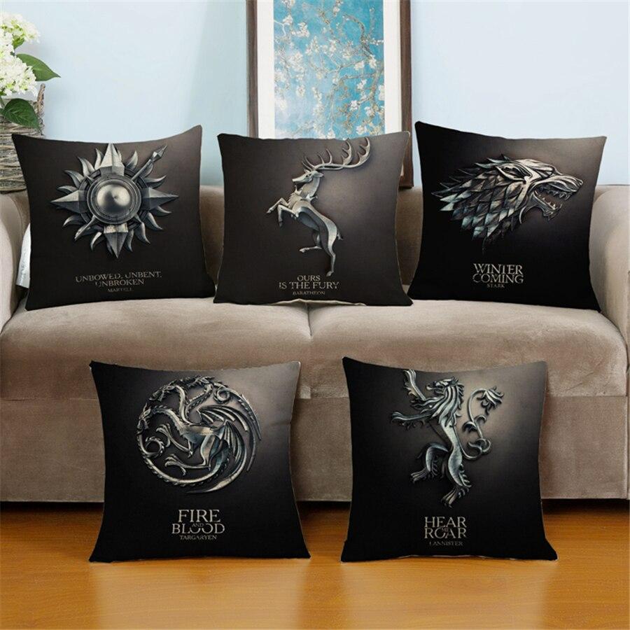 plain cushion covers promotionshop for promotional plain cushion  - modern europe plain game of thrones movie universal art bed chair sofathrow pillow velvet cushion covers home decor linen e