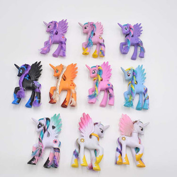 14cm My little pony cute pvc unicorn PVC little ponis horse action toy figures dolls for girl birthday christmas gift 1